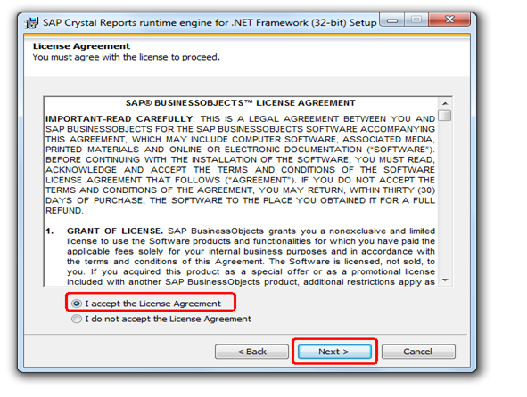 Crystal Reports License